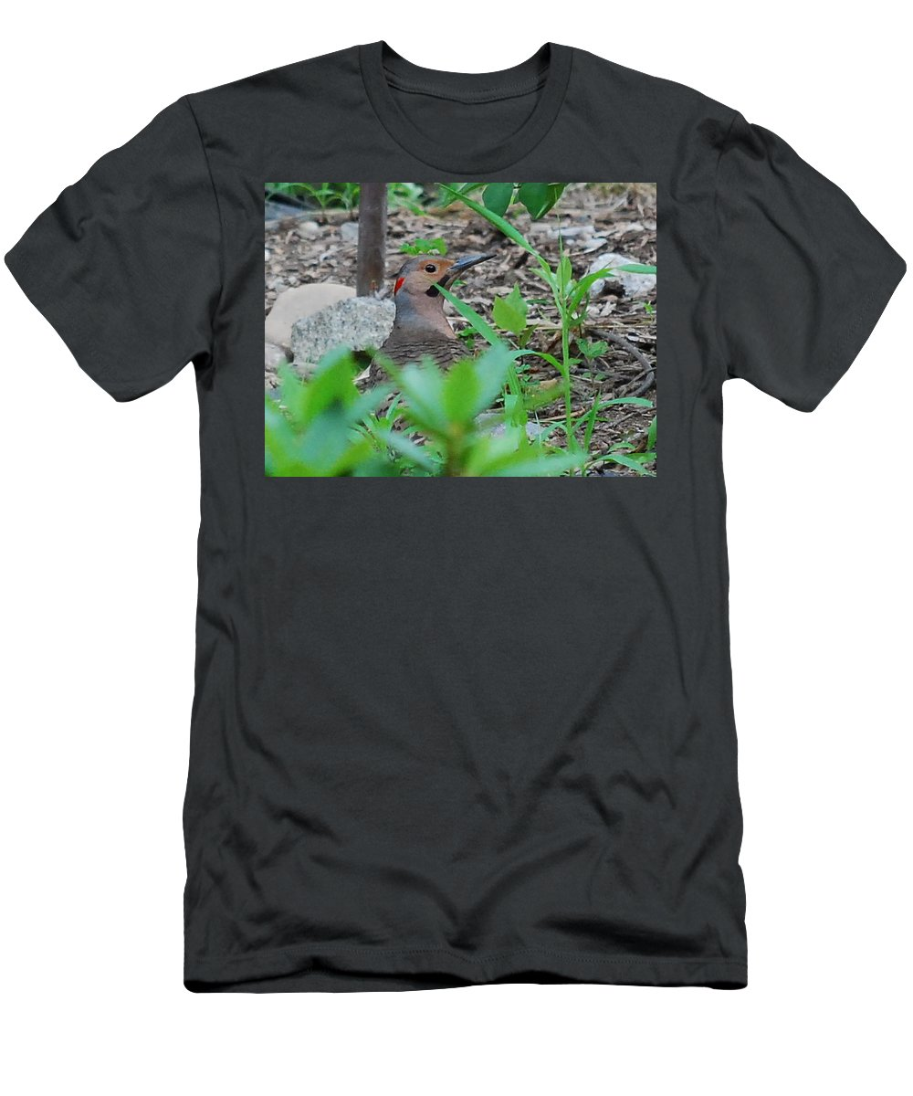 Flicker Men's T-Shirt (Athletic Fit) featuring the photograph Has Anyone Seen Flick by Lori Tambakis
