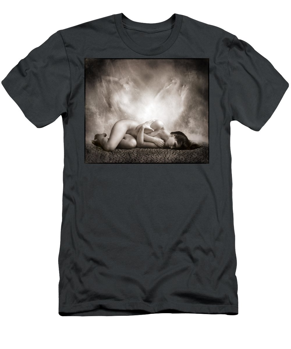 Art Men's T-Shirt (Athletic Fit) featuring the photograph Haunted by Jacky Gerritsen