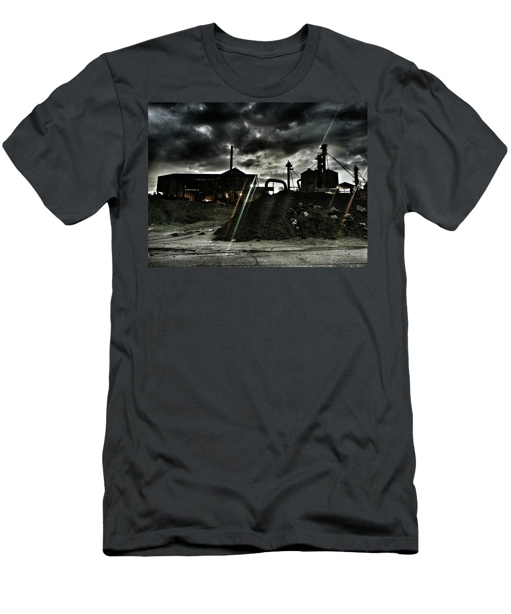 Landscape Men's T-Shirt (Athletic Fit) featuring the photograph Haunting by Brian Groves
