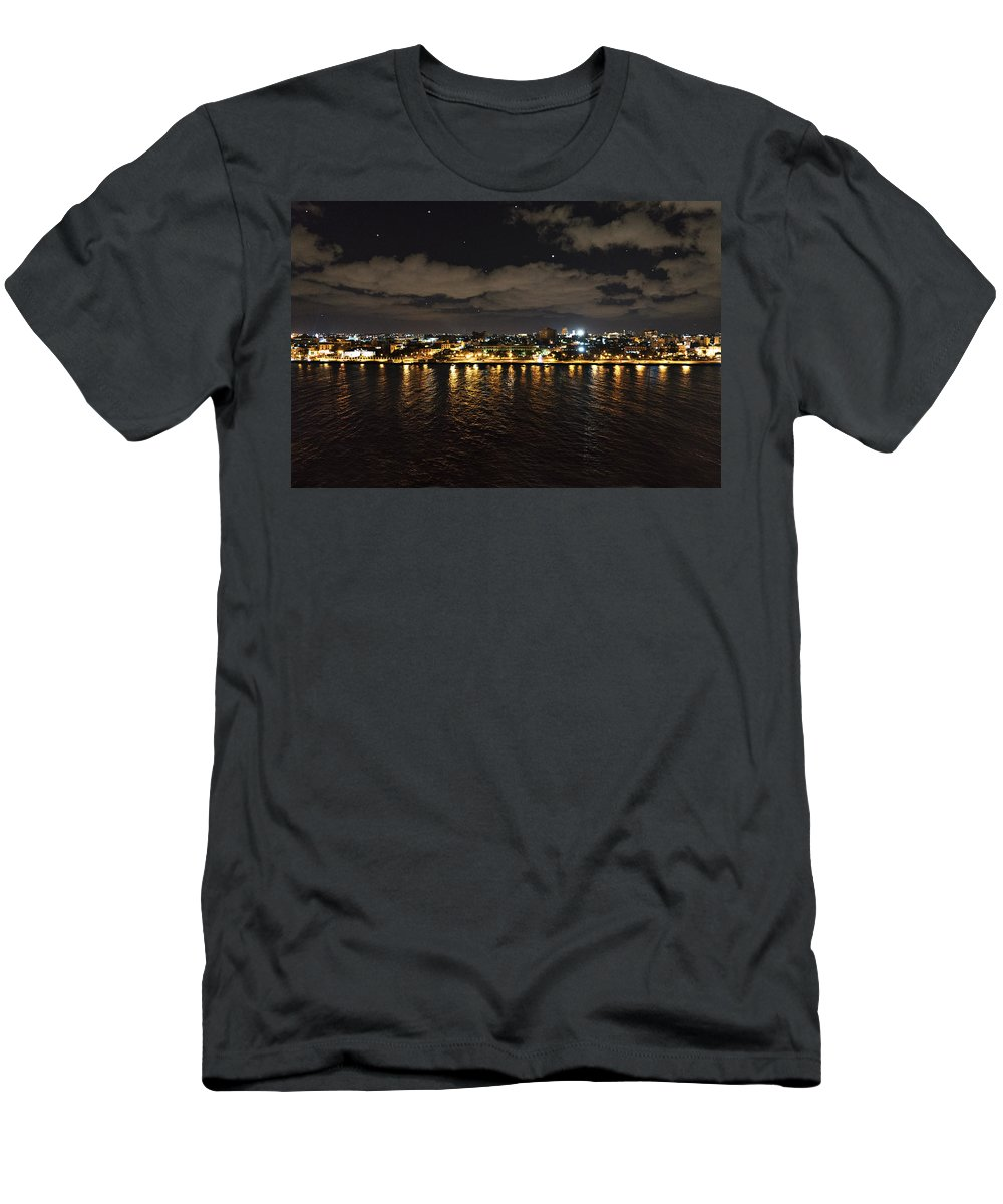 Cuba Men's T-Shirt (Athletic Fit) featuring the photograph Havana Nights by Sharon Popek