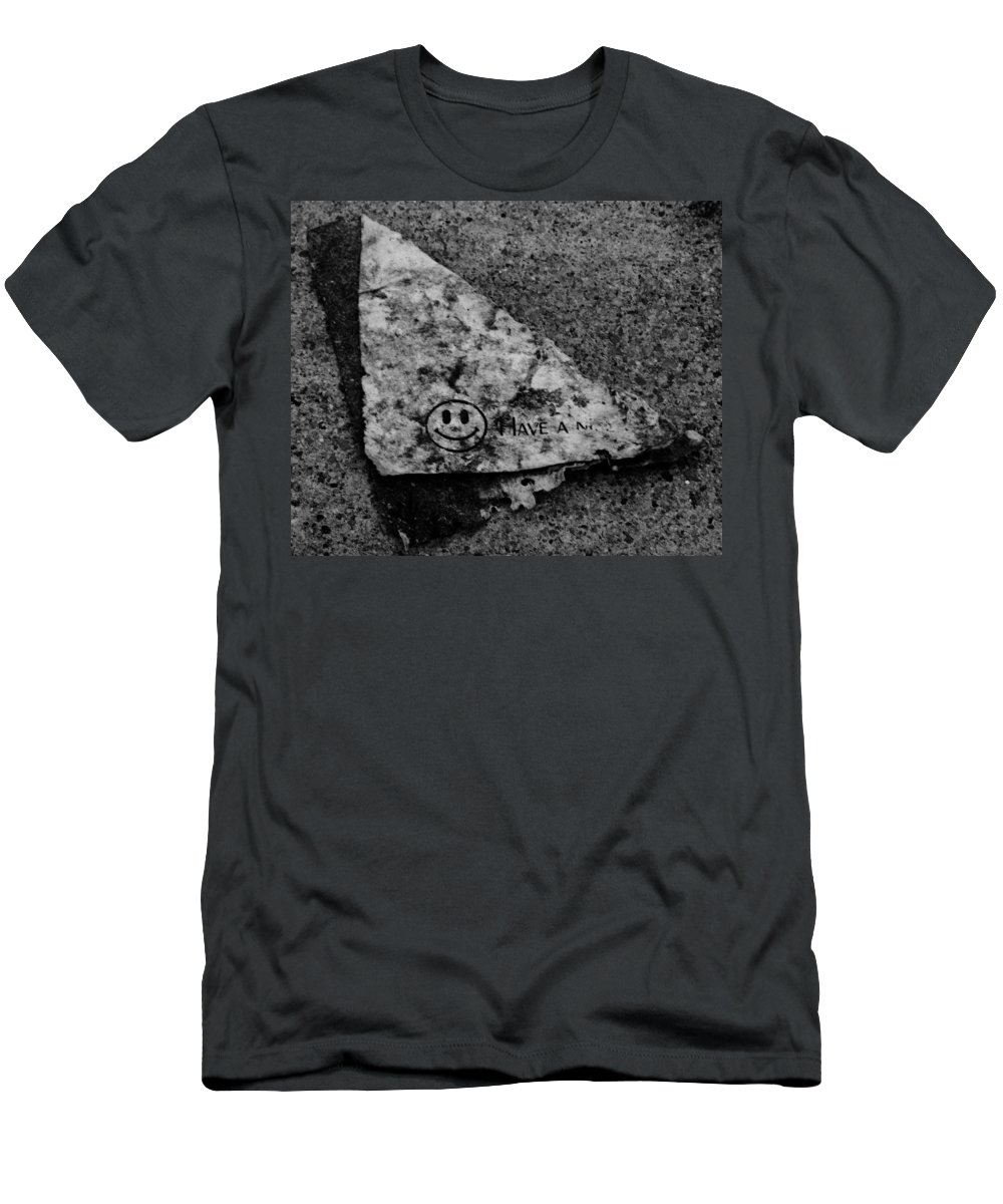 Debris Men's T-Shirt (Athletic Fit) featuring the photograph Have A Nice Day by Angus Hooper Iii
