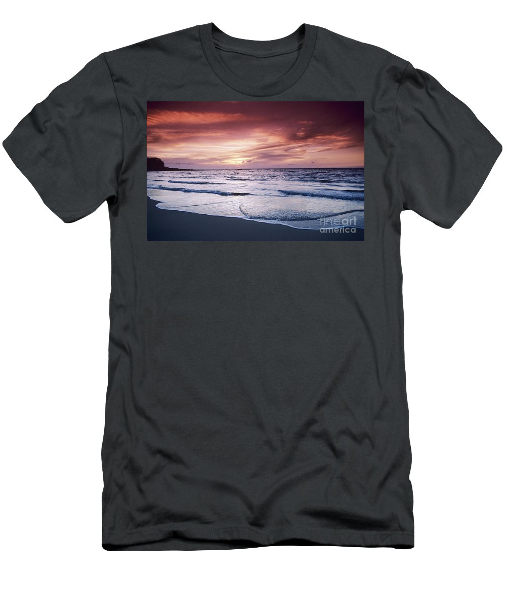 Beach Men's T-Shirt (Athletic Fit) featuring the photograph Hawaii Sunset by Greg Vaughn - Printscapes