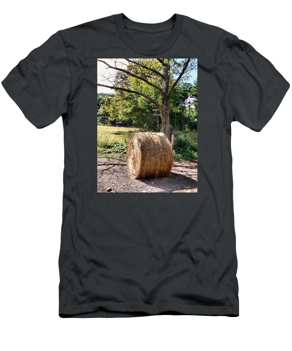 Hay Bay Rolls Men's T-Shirt (Athletic Fit) featuring the painting Hay Bay Rolls 4 by Jeelan Clark