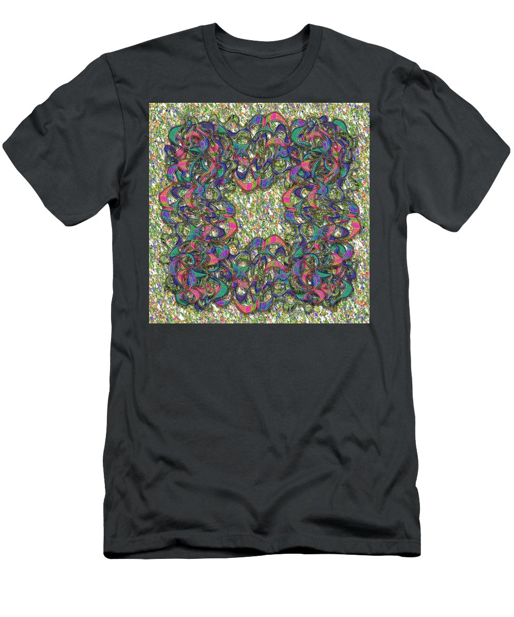 Abstract Men's T-Shirt (Athletic Fit) featuring the digital art Hayat V6 by Mark Sellers