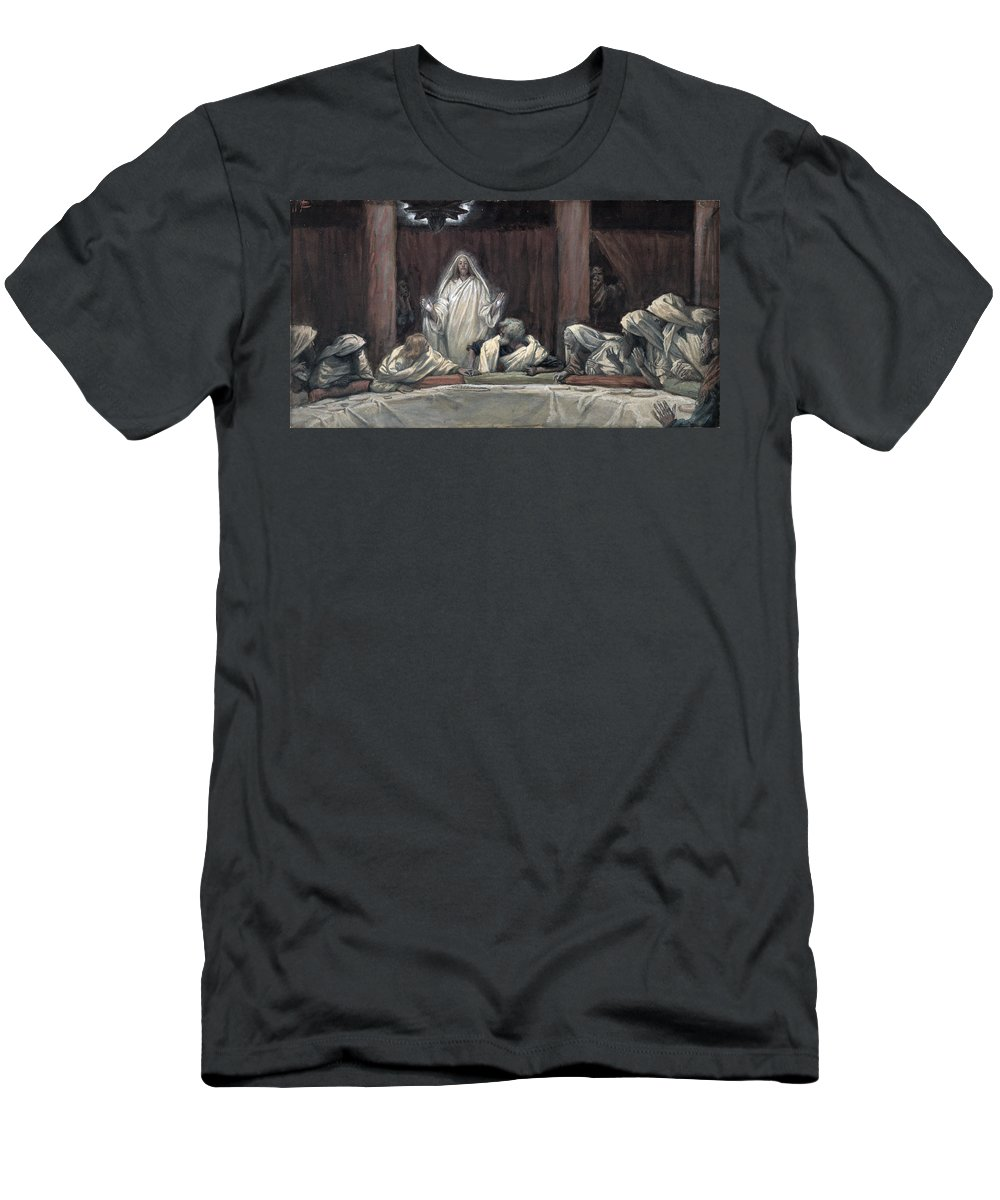 Tissot Men's T-Shirt (Athletic Fit) featuring the painting He Appeared To The Eleven by Tissot