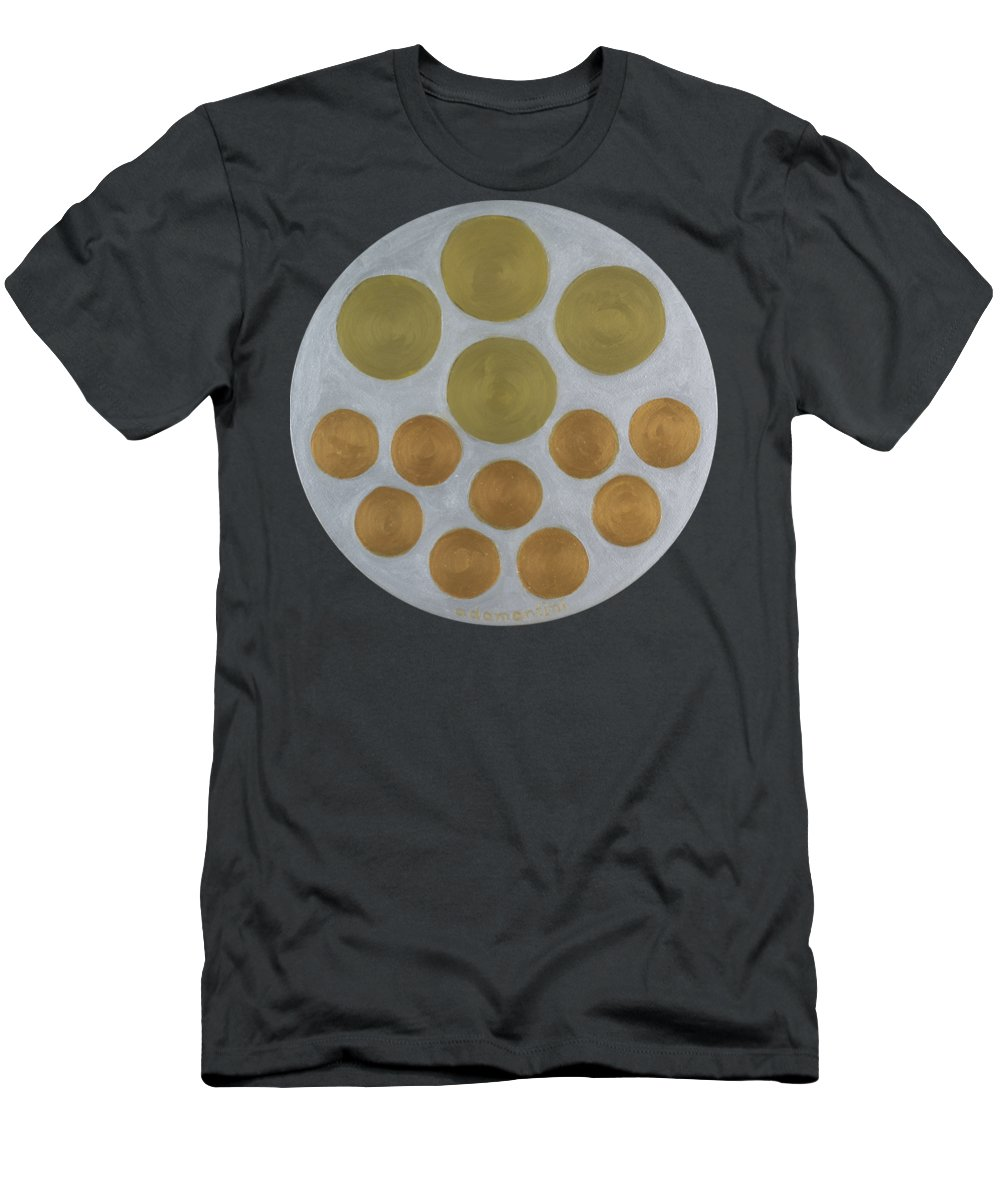 He Tu T-Shirt featuring the painting He Tu Metal Round by Adamantini Feng shui