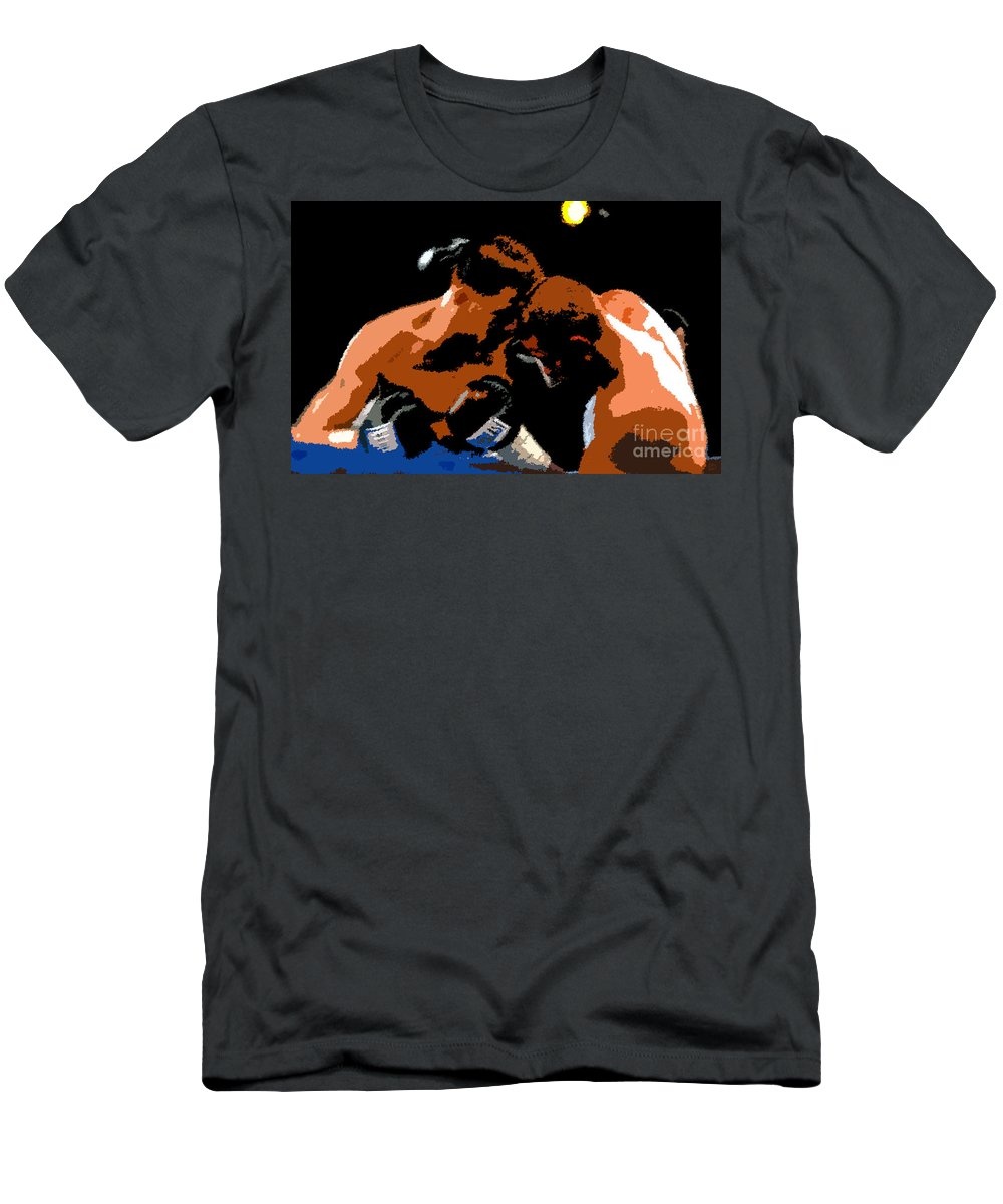 Boxing Men's T-Shirt (Athletic Fit) featuring the painting Head To Head by David Lee Thompson