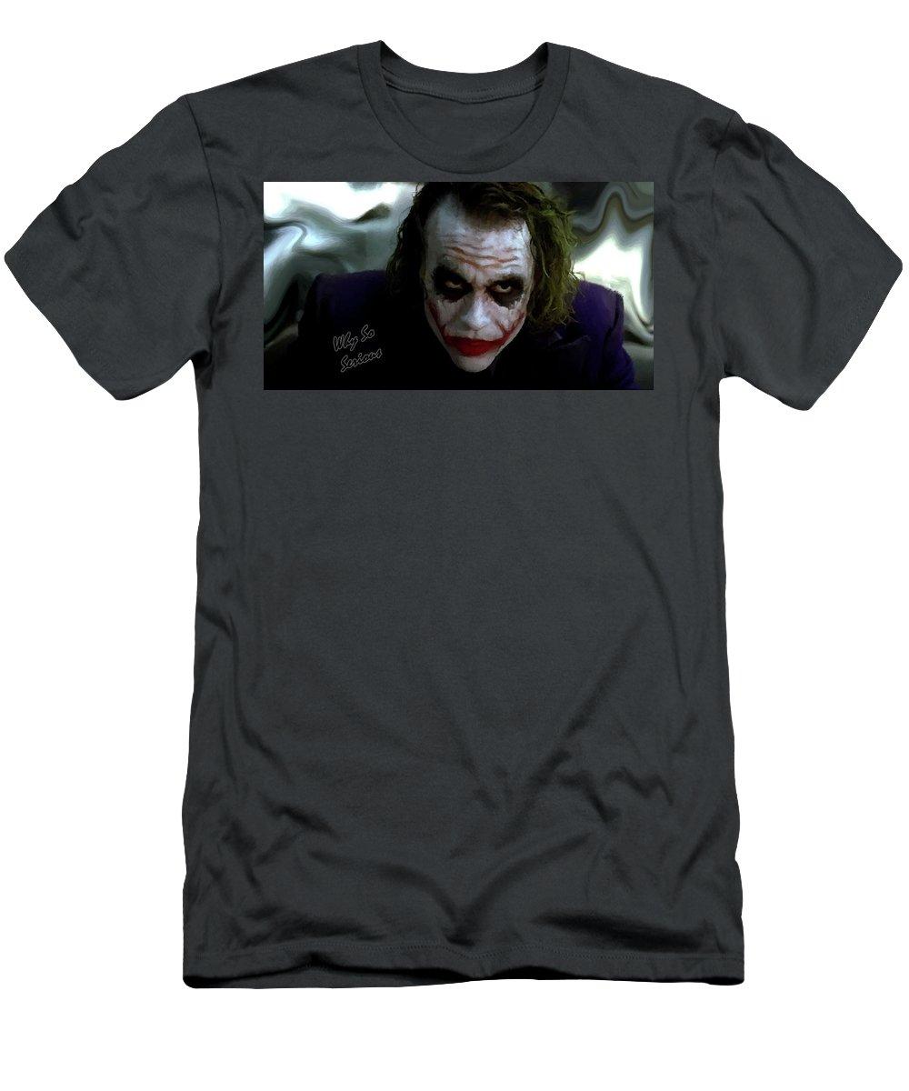 0dea388b Heath Ledger Men's T-Shirt (Athletic Fit) featuring the photograph Heath  Ledger Joker