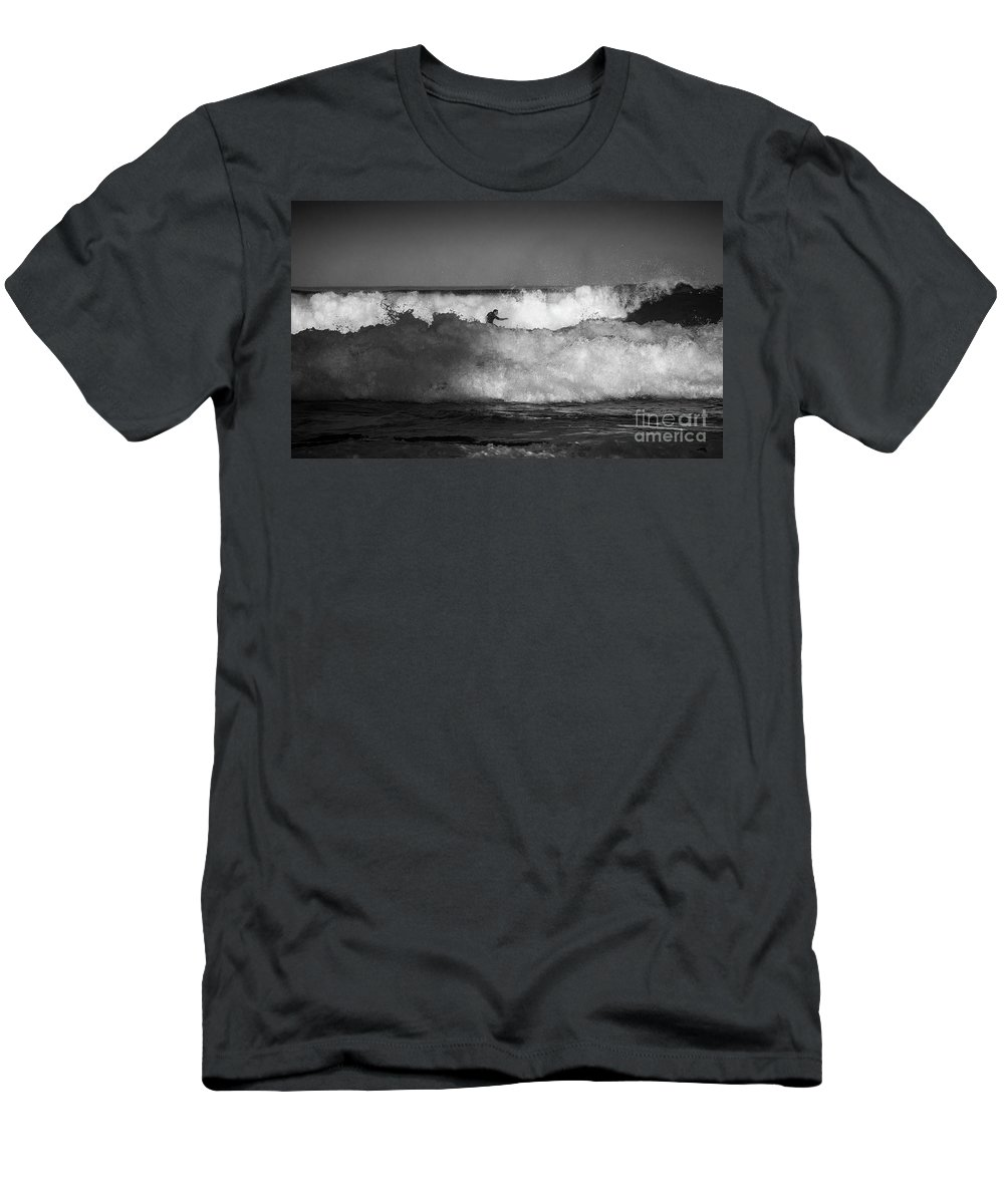 Heavy Surf T-Shirt featuring the photograph Heavy surf at Avalon Beach by Sheila Smart Fine Art Photography
