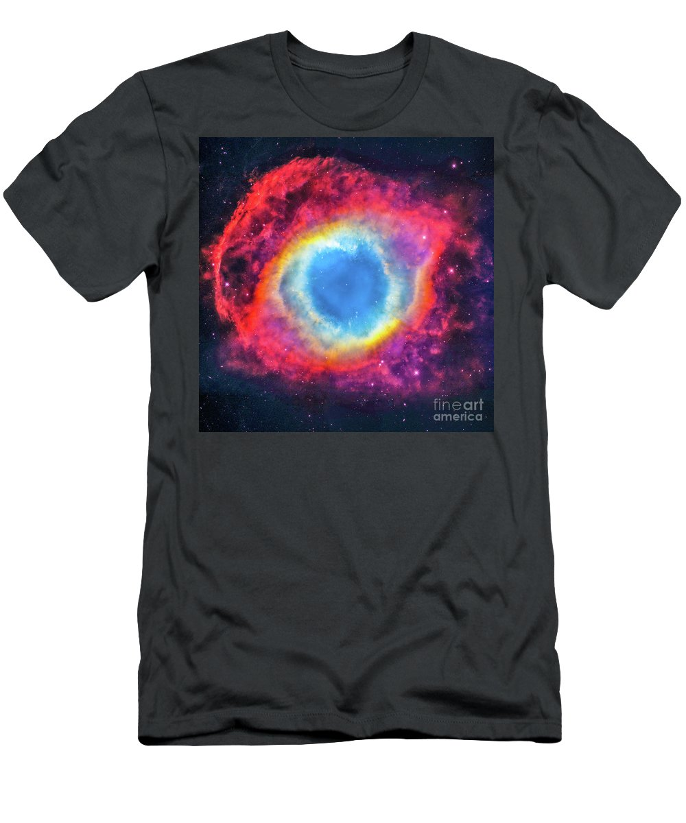 Astronomy Men's T-Shirt (Athletic Fit) featuring the photograph Helix Nebular by Louie Navoni