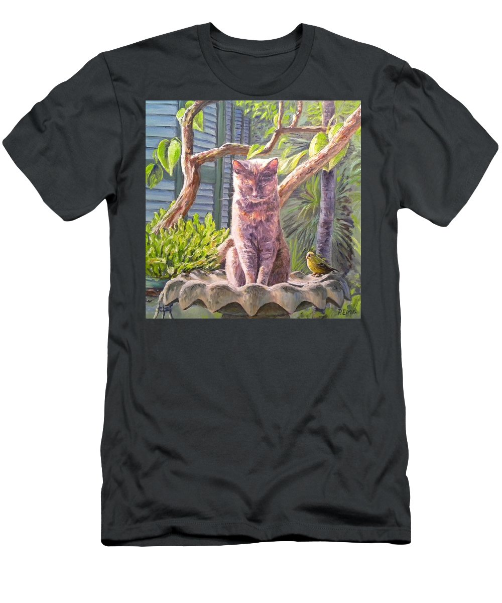Cat T-Shirt featuring the painting Hemingway Cat by Paul Emig
