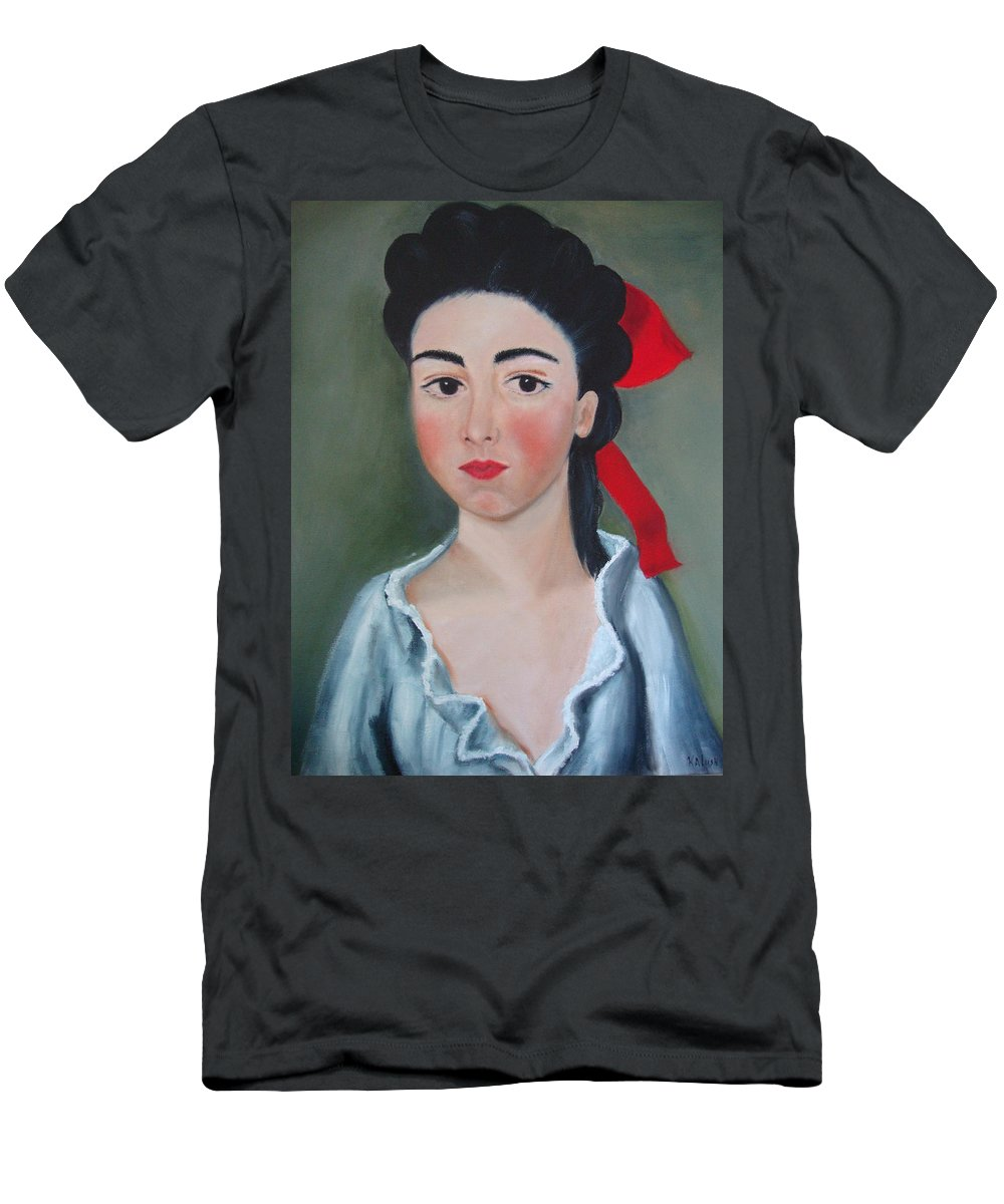 Victorian Painting Men's T-Shirt (Athletic Fit) featuring the painting Henrietta by Deby Kalush