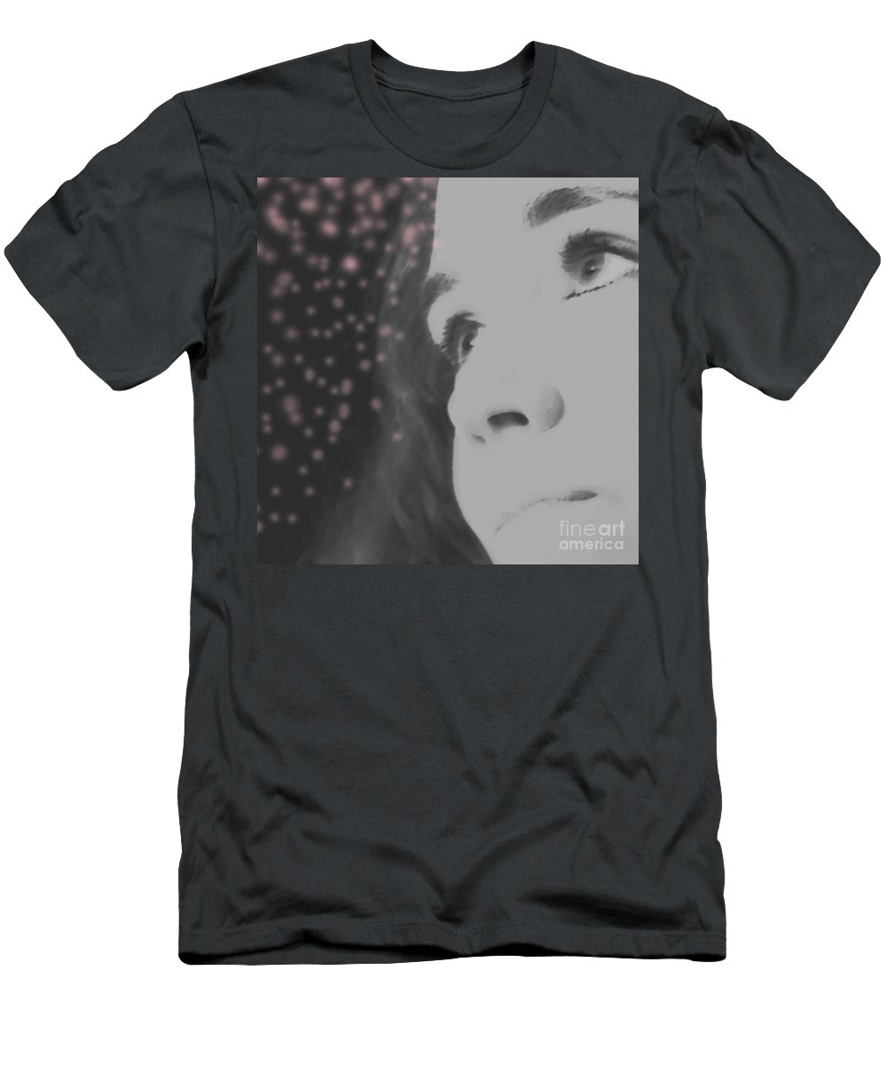 Faces Men's T-Shirt (Athletic Fit) featuring the photograph Her Energy by Amanda Barcon