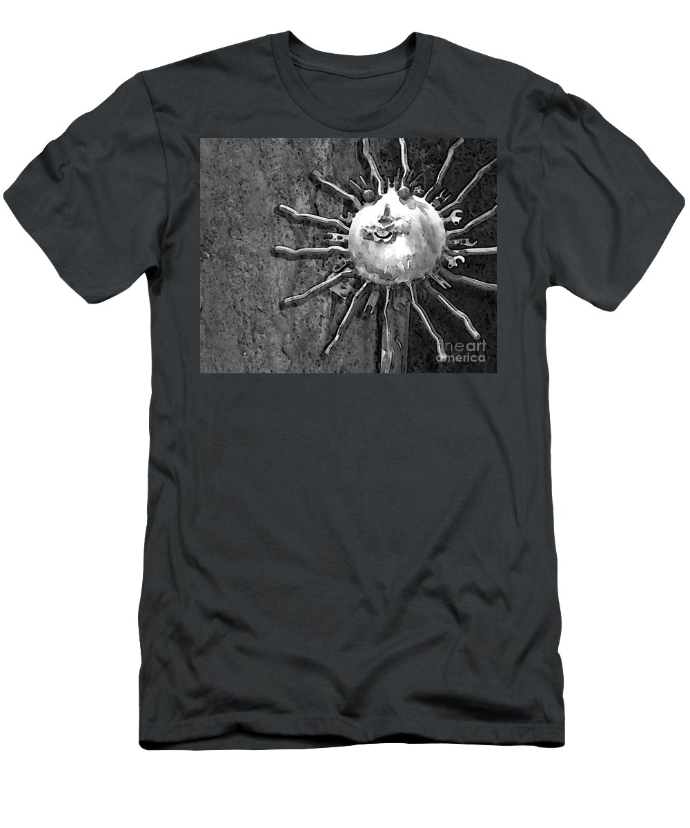 Sun Men's T-Shirt (Athletic Fit) featuring the photograph Here Comes The Sun by Debbi Granruth