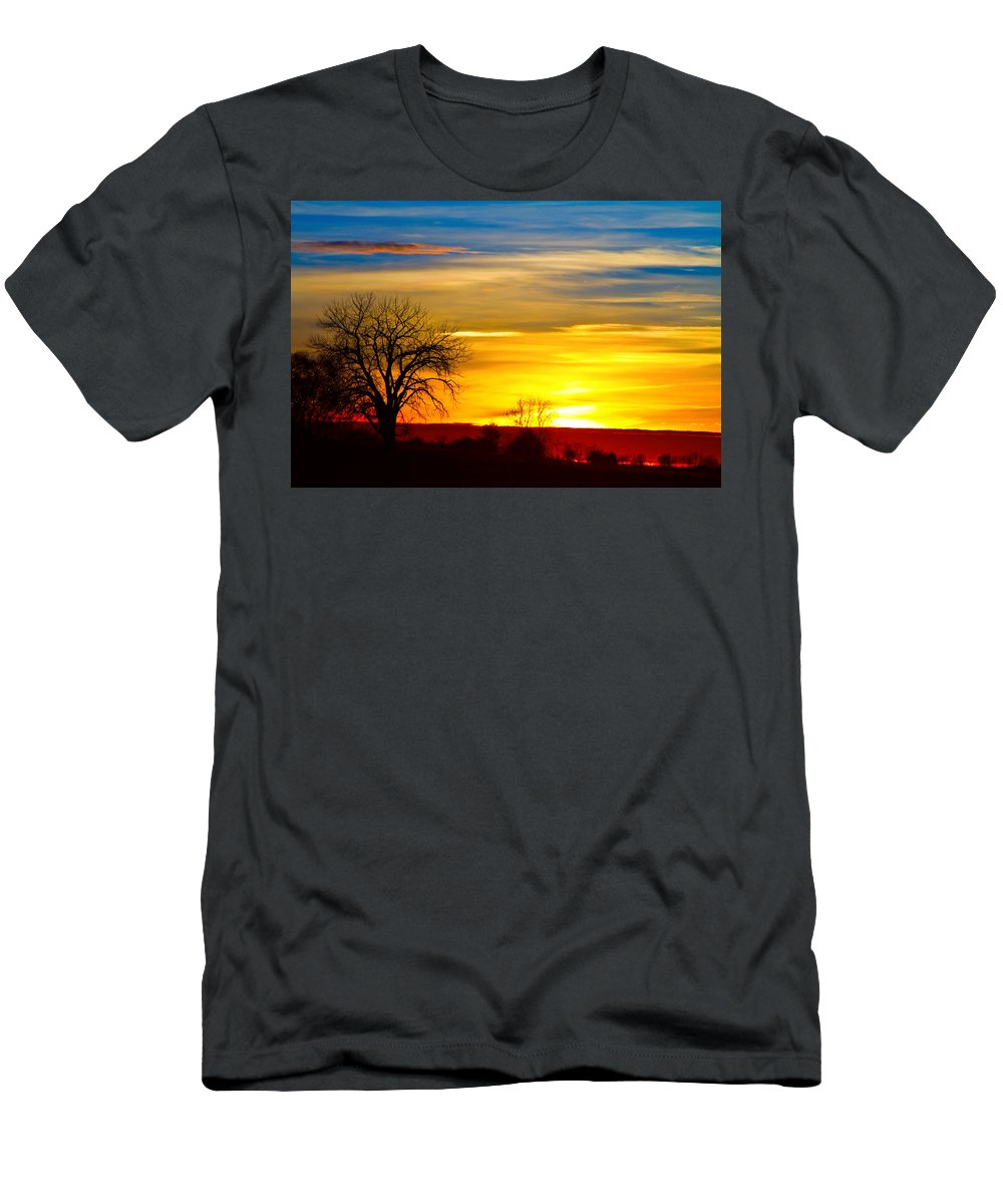 Sunrise Men's T-Shirt (Athletic Fit) featuring the photograph Here Comes The Sun by James BO Insogna