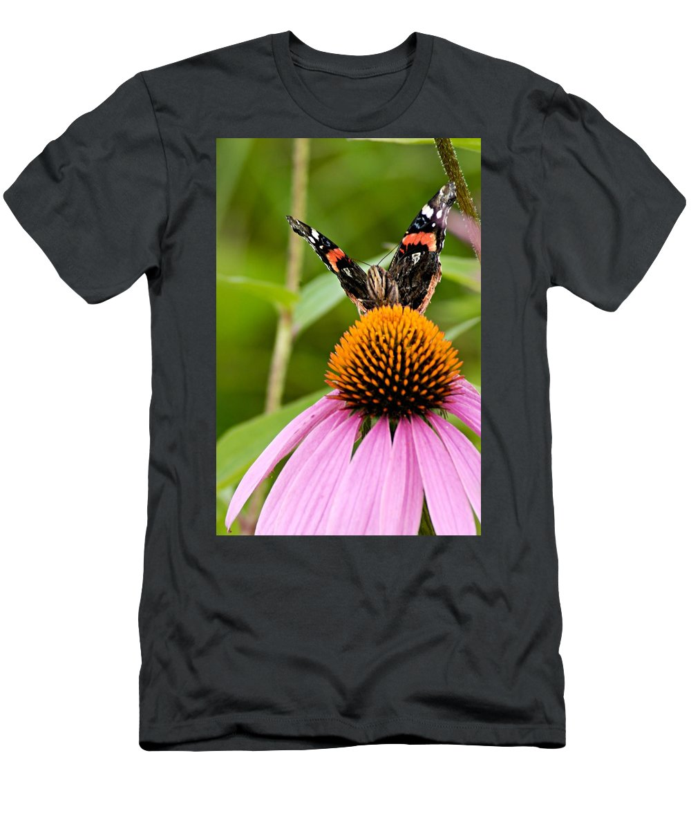 Photography Men's T-Shirt (Athletic Fit) featuring the photograph Here Is Looking At You by Larry Ricker