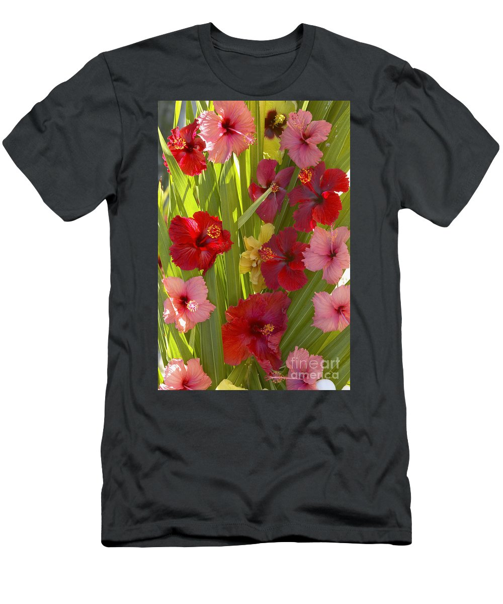 Above Men's T-Shirt (Athletic Fit) featuring the photograph Hibiscus by Kyle Rothenborg - Printscapes