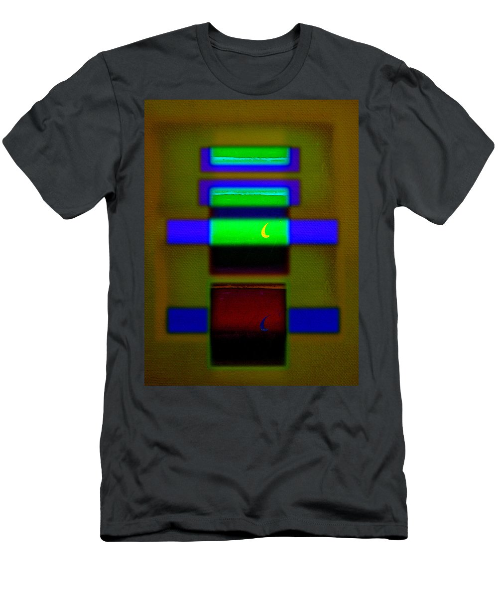 Rothko Men's T-Shirt (Athletic Fit) featuring the painting Hieroglyphic by Charles Stuart