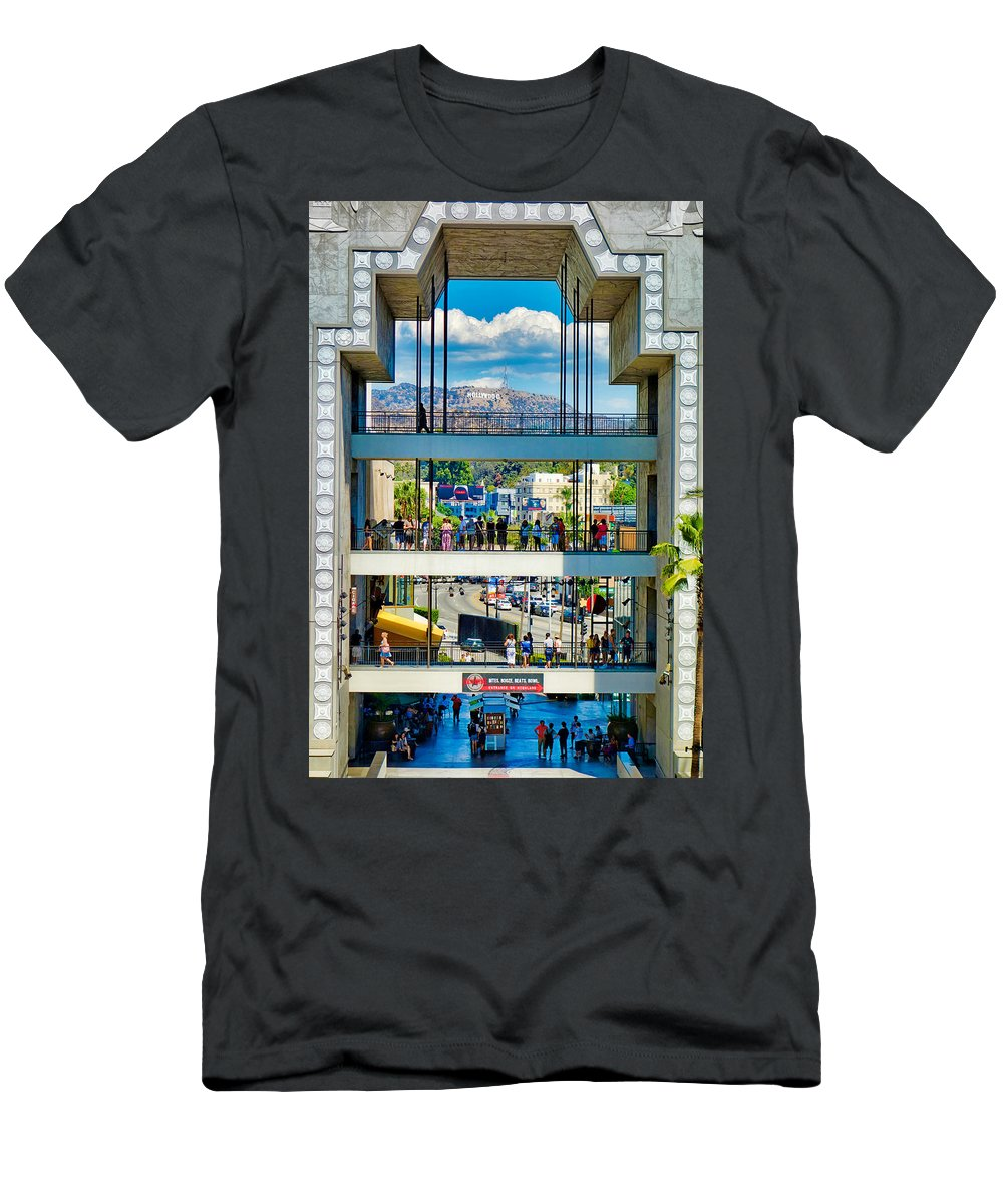 Highland Men's T-Shirt (Athletic Fit) featuring the photograph Highland And Hollywood C by Robert Meyers-Lussier