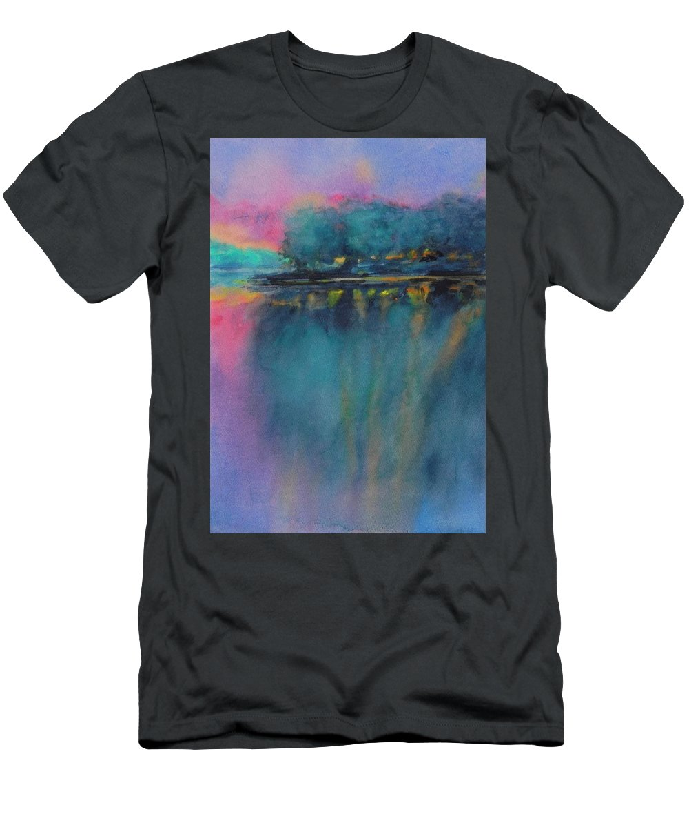 Watercolor T-Shirt featuring the painting Hill Country Abstract No 5 by Virgil Carter
