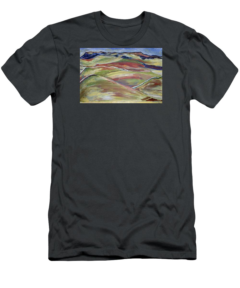 T-Shirt featuring the painting Northern Hills, Clare Island by Kathleen Barnes