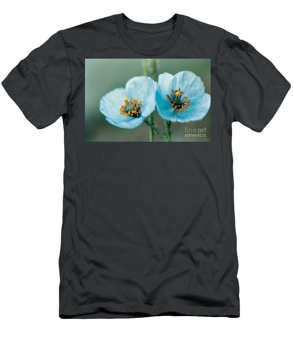 Flower Men's T-Shirt (Athletic Fit) featuring the photograph Himalayan Blue Poppy by American School