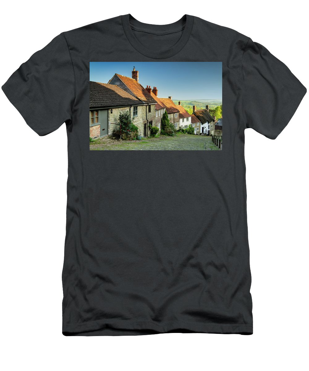 Gold Hill Men's T-Shirt (Athletic Fit) featuring the photograph Historic Gold Hill by Michael Blanchette