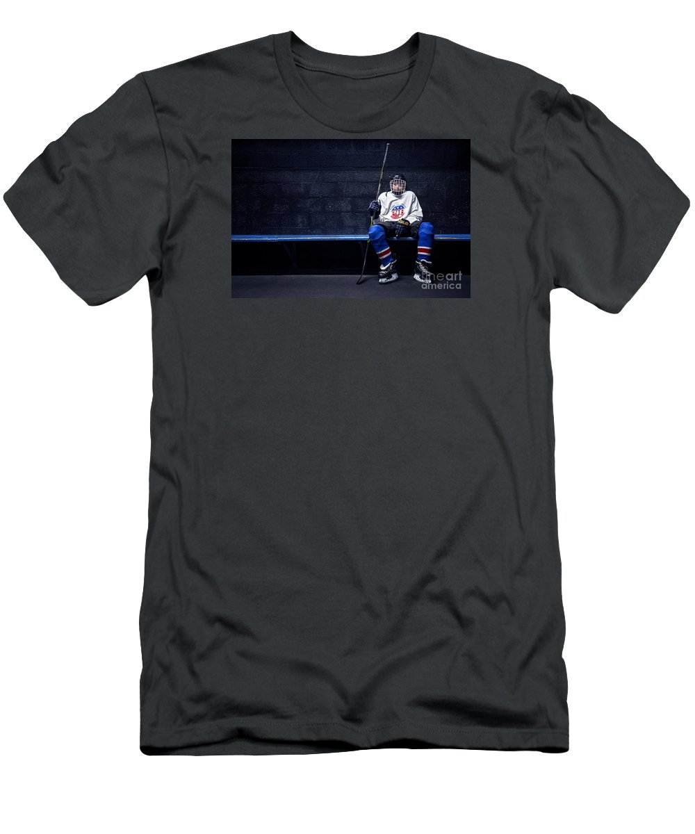 Kremsdorf T-Shirt featuring the photograph Hockey Strong by Evelina Kremsdorf