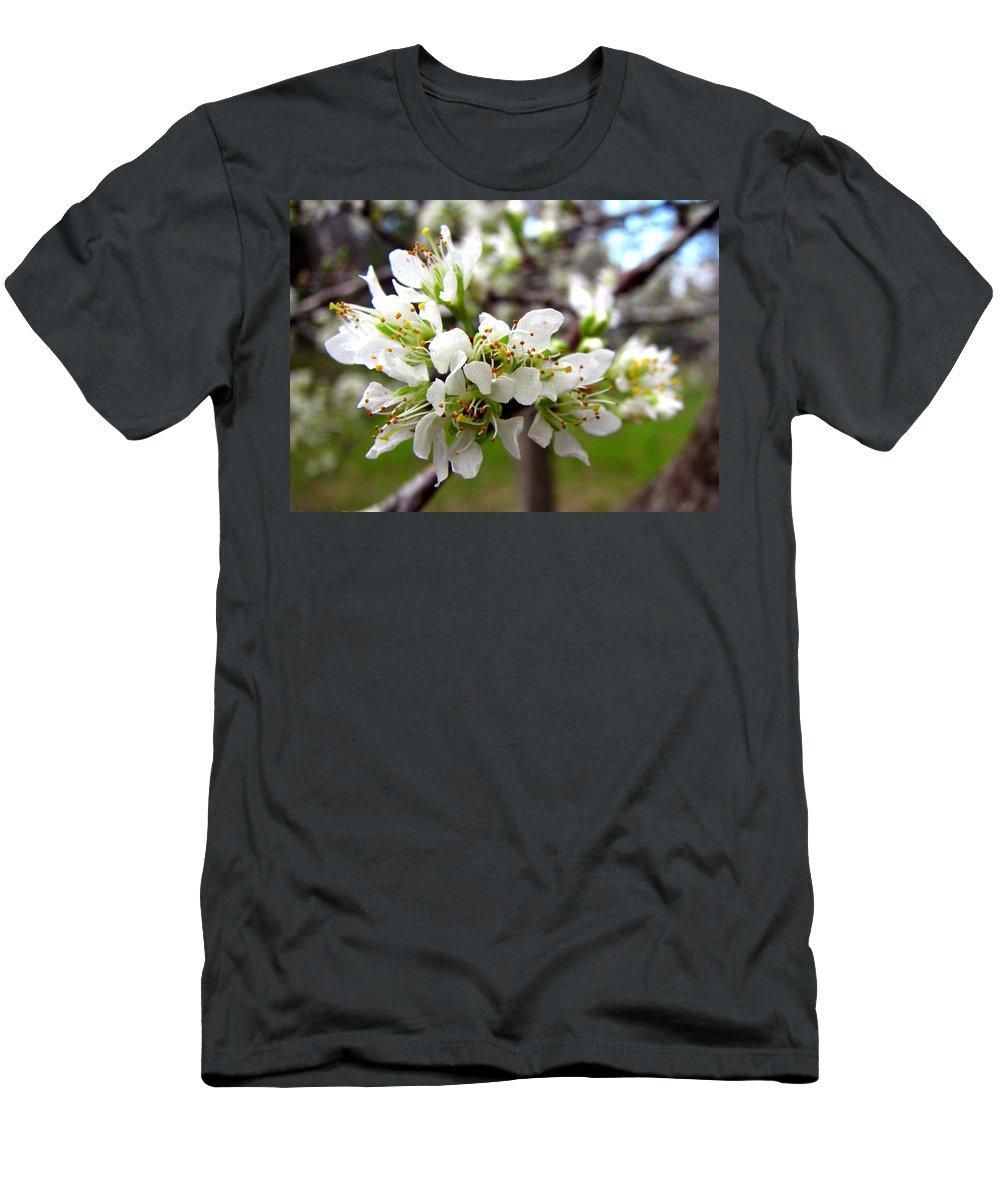 Hog Plum Men's T-Shirt (Athletic Fit) featuring the photograph Hog Plum Blossoms by J M Farris Photography