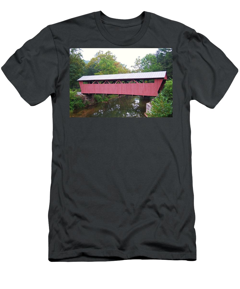 Hokes Mill Men's T-Shirt (Athletic Fit) featuring the photograph Hokes Mill by Eric Liller