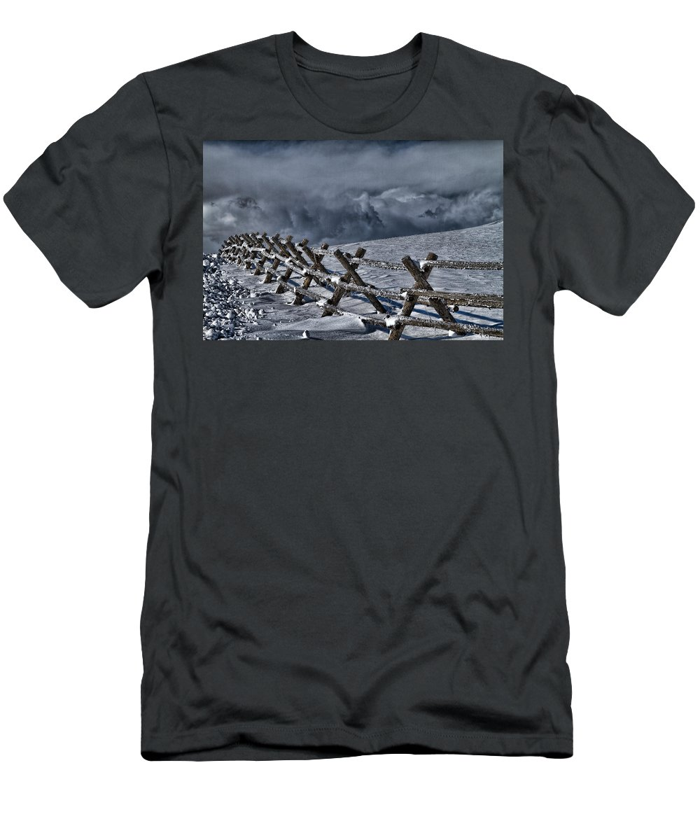 Landscape T-Shirt featuring the photograph Holding Back The Storm by Alana Thrower