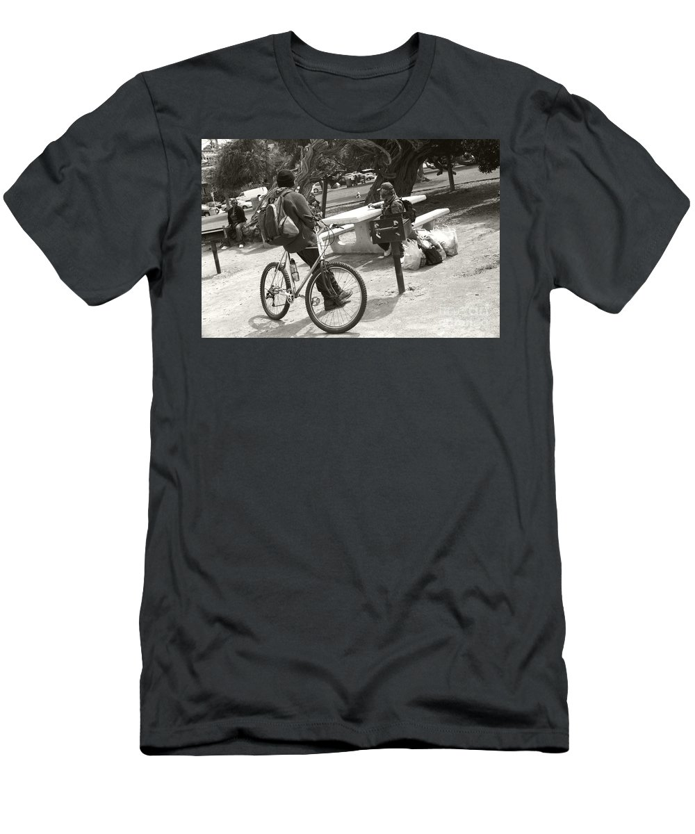 Homeless Men's T-Shirt (Athletic Fit) featuring the photograph Holding Court by Heather Kirk