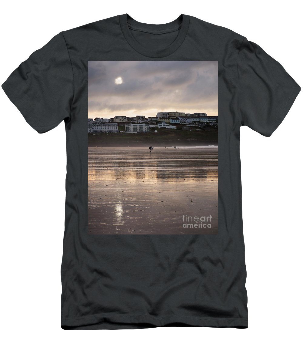 Sunset Men's T-Shirt (Athletic Fit) featuring the photograph Hole In The Clouds by Nicholas Burningham