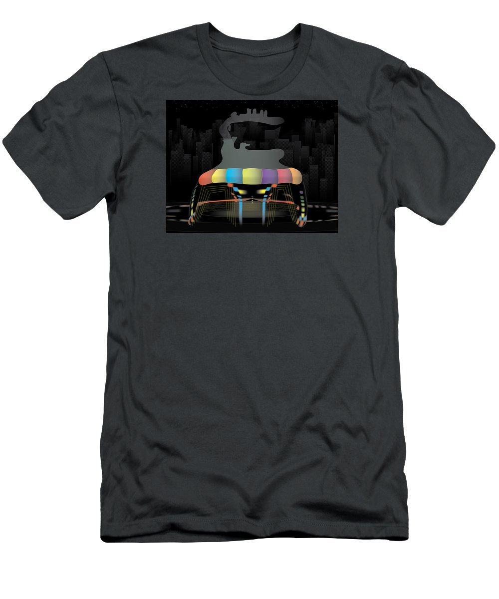 Holographic Men's T-Shirt (Athletic Fit) featuring the digital art Holocircus by Kevin McLaughlin