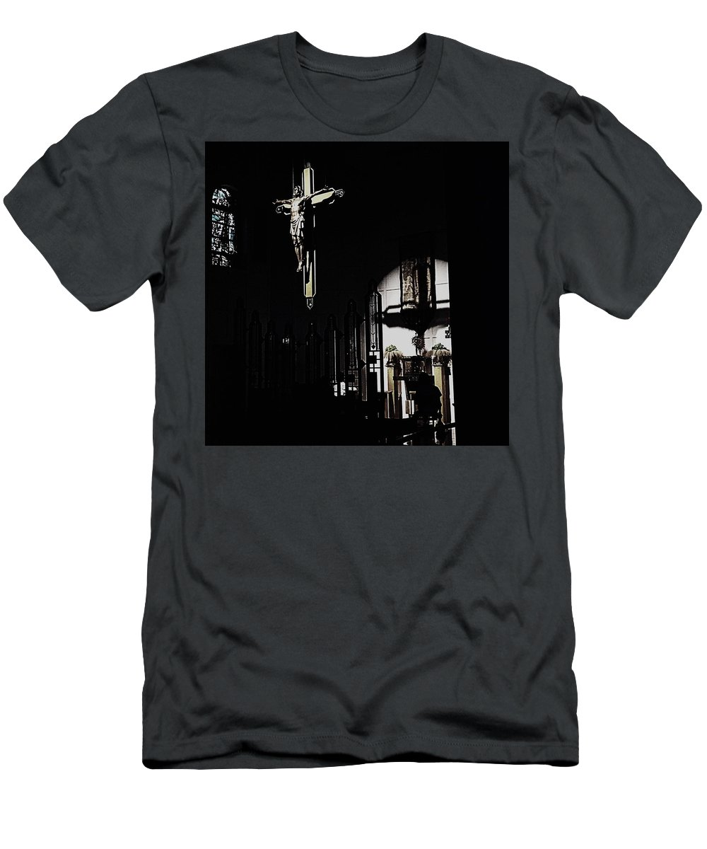 Cross T-Shirt featuring the photograph Holy Adoration by Frank J Casella
