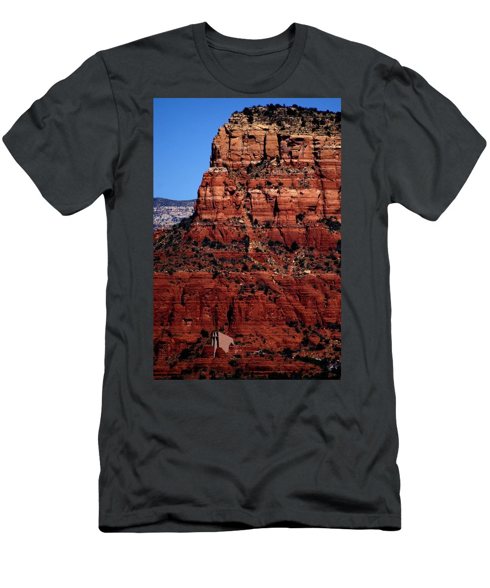 Holy Cross Men's T-Shirt (Athletic Fit) featuring the photograph Holy Cross Cathedral by The Art With A Heart By Charlotte Phillips