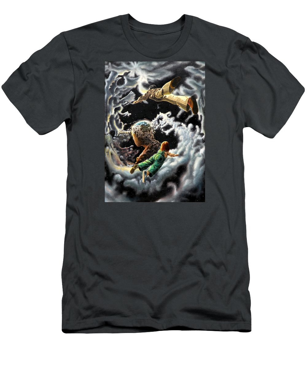 Fantasy Men's T-Shirt (Athletic Fit) featuring the painting Homecoming by Dave Martsolf