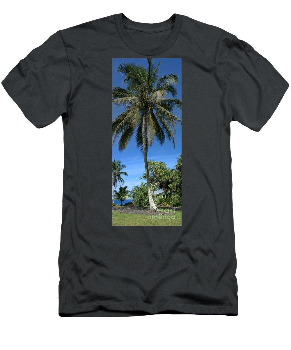 Honomaele Men's T-Shirt (Athletic Fit) featuring the photograph Honomaele Kahanu Gardens Hale O Piilani Ulaino Hana Maui Hawaii by Sharon Mau