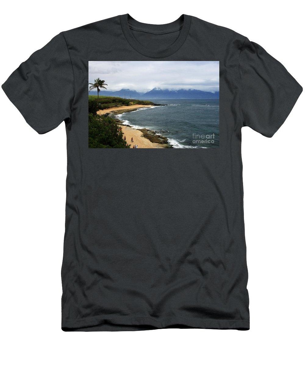 Aloha Men's T-Shirt (Athletic Fit) featuring the photograph Hookipa Beach Maui North Shore Hawaii by Sharon Mau