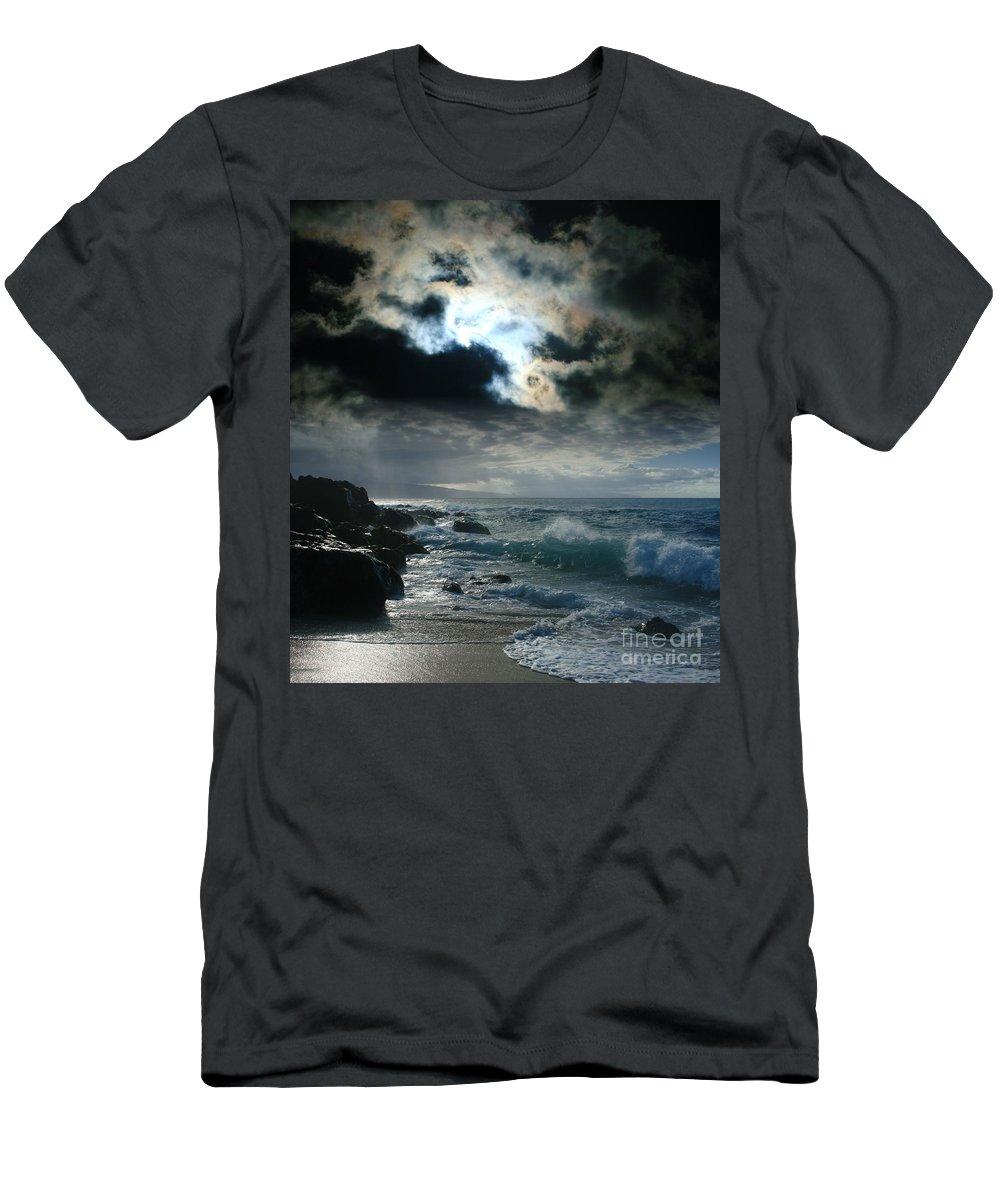Aloha Men's T-Shirt (Athletic Fit) featuring the photograph Hookipa Waiola O Ka Lewa I Luna Ua Paaia He Lani Maui Hawaii by Sharon Mau