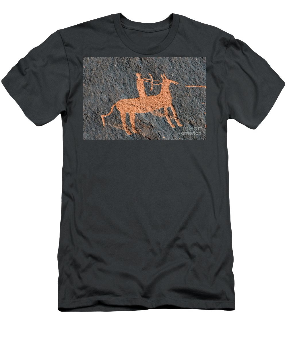 Bow And Arrow Men's T-Shirt (Athletic Fit) featuring the photograph Horse And Arrow by David Lee Thompson