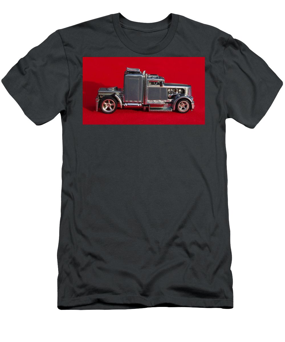 Hotwheels Men's T-Shirt (Athletic Fit) featuring the photograph Hotwheels Semi Truck by Bruce Roker