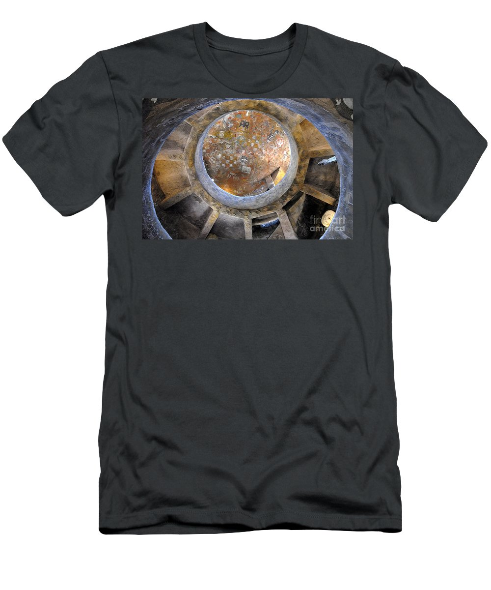 Hopi Men's T-Shirt (Athletic Fit) featuring the photograph House Of The Hopi by David Lee Thompson