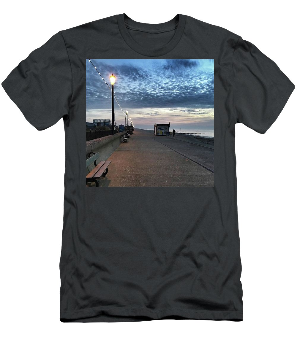 Beautiful T-Shirt featuring the photograph Hunstanton At 5pm Today  #sea #beach by John Edwards