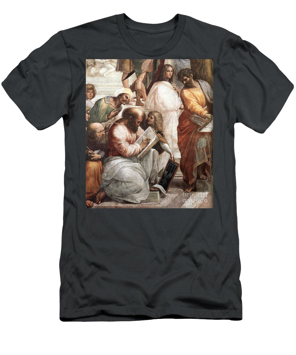 Science Men's T-Shirt (Athletic Fit) featuring the photograph Hypatia Of Alexandria, Mathematician by Science Source