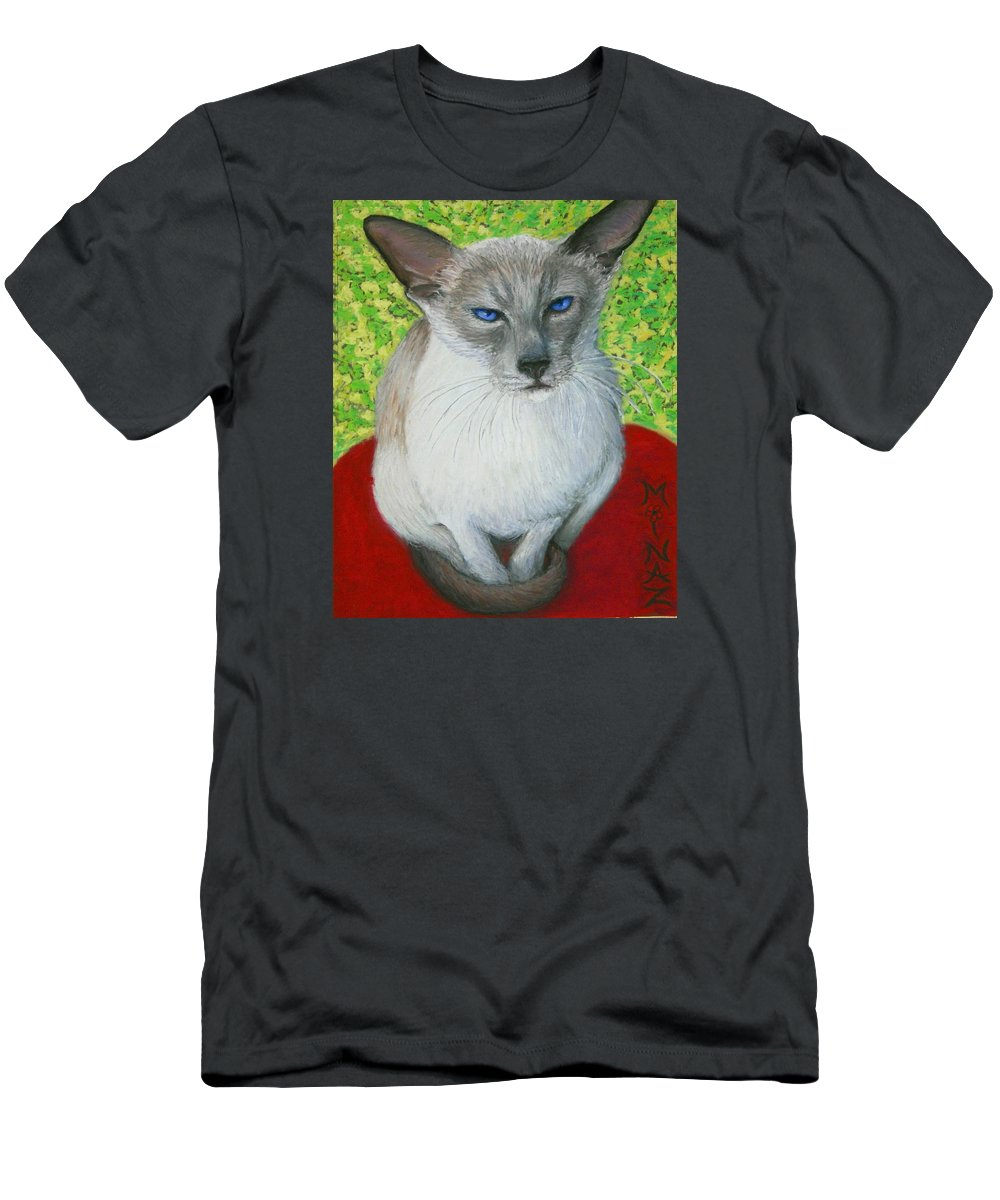 Siamese Men's T-Shirt (Athletic Fit) featuring the painting I Am Siamese If You Please by Minaz Jantz