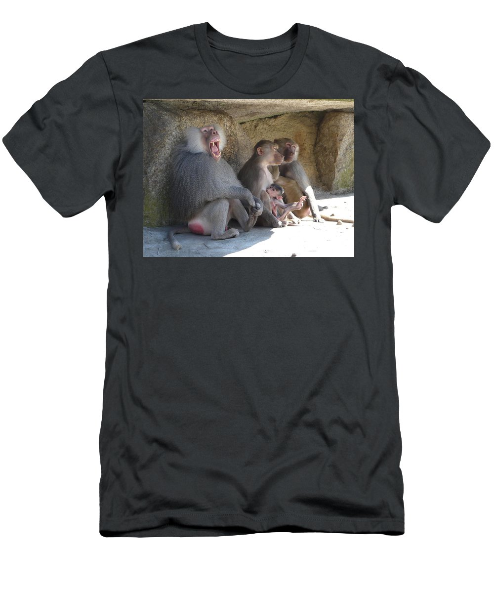 Animal Men's T-Shirt (Athletic Fit) featuring the photograph I Am The King Here by Valerie Ornstein