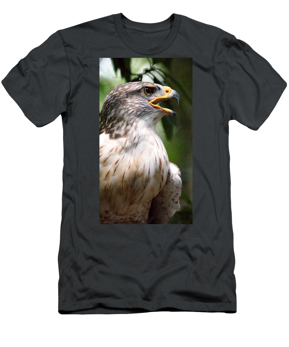 Birds Men's T-Shirt (Athletic Fit) featuring the photograph I Heard That by Cathi Abbiss Crane