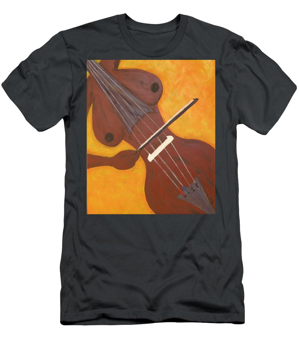 Music Men's T-Shirt (Athletic Fit) featuring the mixed media I Played Myself by Kayon Cox