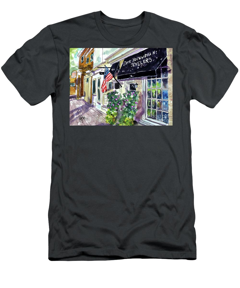 Franklin Men's T-Shirt (Athletic Fit) featuring the painting I See Shiney Things by Tim Ross